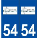 54 Dieulouard logo autocollant plaque stickers ville
