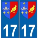 17 Charente-Maritime blason armoiries stickers département