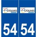 54 Écrouves logo autocollant plaque stickers ville