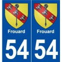 54 Frouard coat of arms sticker plate stickers city