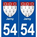 54 Jarny coat of arms sticker plate stickers city