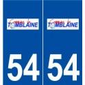 54 Tomblaine logo sticker plate stickers city