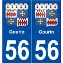 56 Gourin blason autocollant plaque stickers ville