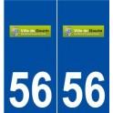 56 Gourin logo autocollant plaque stickers ville