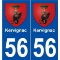 56 Kervignac blason autocollant plaque stickers ville