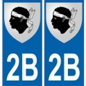 2B Corse du Sud autocollant plaque blason armoiries stickers département
