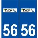 56 Ploeren logo aufkleber typenschild aufkleber stadt