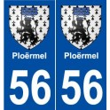 56 Ploermel coat of arms sticker plate stickers city