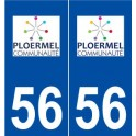 56 Ploermel logo sticker plate stickers city