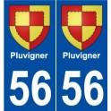 56 Pluvigner blason autocollant plaque stickers ville