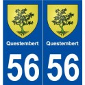 56 Questembert coat of arms sticker plate stickers city