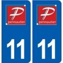 11 Pennautier logo ville autocollant plaque stickers