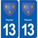 13 Peynier coat of arms, city sticker, plate sticker