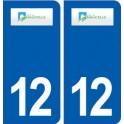 12 Naucelle logo ville autocollant plaque sticker