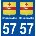 57 Bouzonville coat of arms sticker plate stickers city