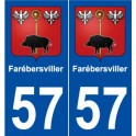 57 Farébersviller blason autocollant plaque stickers ville