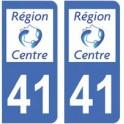 41 Loir-et-Cher sticker plate