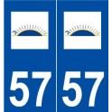 57 Farébersviller logo sticker plate stickers city