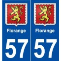 57 Florange coat of arms sticker plate stickers city
