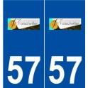 57 Folschviller logo sticker plate stickers city