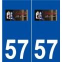 57 Guénange logo autocollant plaque stickers ville