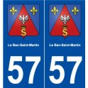 57 The Ban-Saint-Martin coat of arms sticker plate stickers city