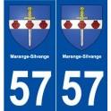 57 Marange-Silvange coat of arms sticker plate stickers city