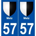 57 Metz blason autocollant plaque stickers ville
