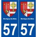 57 Montigny-lès-Metz coat of arms sticker plate stickers city