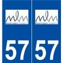57 Montigny-lès-Metz logo autocollant plaque stickers ville