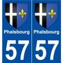 57 Phalsbourg blason autocollant plaque stickers ville