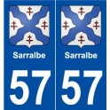 57 Sarralbe coat of arms sticker plate stickers city