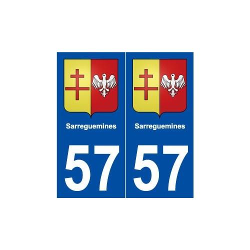 57 Sarreguemines blason autocollant plaque stickers ville
