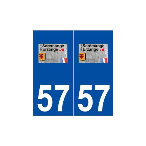 57 Serémange-Erzange logo autocollant plaque stickers ville