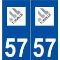 57 Terville logo sticker plate stickers city