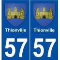 57 Thionville blason autocollant plaque stickers ville