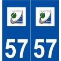 57 Uckange logo autocollant plaque stickers ville