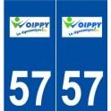 57 Woippy logo sticker plate stickers city