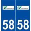 58 Fourchambault logo autocollant plaque stickers ville