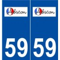 59 Abscon logo sticker plate stickers city