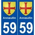 59 Annœullin blason autocollant plaque stickers ville