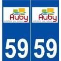 59 Auby logo sticker plate stickers city