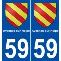 59 city of Avesnes-sur-Helpe coat of arms sticker plate stickers city