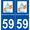 59 city of Avesnes-sur-Helpe logo sticker plate stickers city