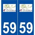 59 Baisieux logo autocollant plaque stickers ville