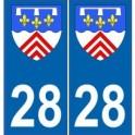 28 Eure et Loir blason armoiries stickers département