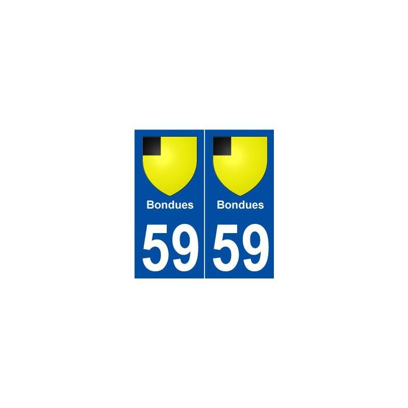 59 bondues blason autocollant plaque immatriculation stickers ville. Black Bedroom Furniture Sets. Home Design Ideas