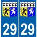 29 Finistère autocollant plaque blason armoiries stickers département