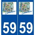 59 Komen logo sticker plate stickers city