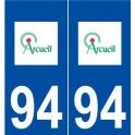 94 Arcueil logo autocollant plaque stickers ville